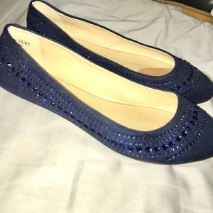 🆕 CHINESE LAUNDRY Navy Sparkle Flats